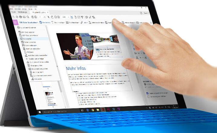 Acrobat DC auf dem Microsoft Surface Pro