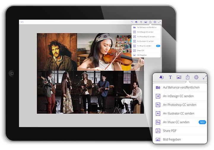 Adobe Comp auf dem iPad