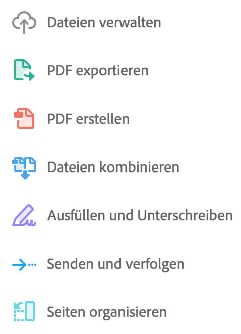 Die PDF Services und Browserdienste der Document Cloud.