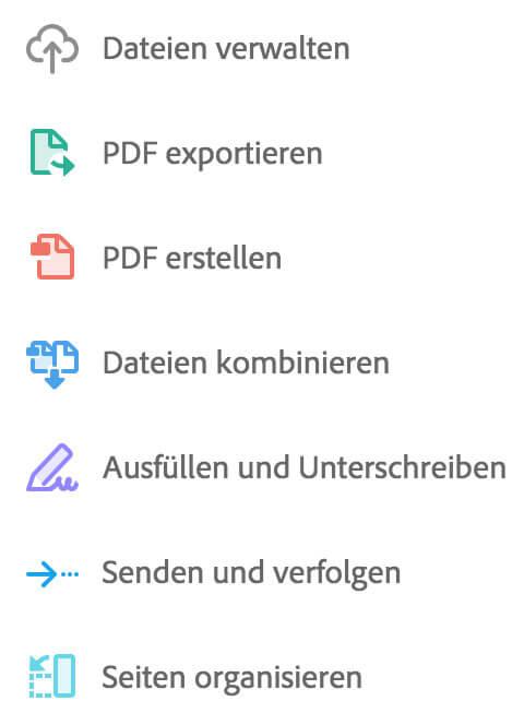 Die PDF Services und Browserdienste der Document Cloud.