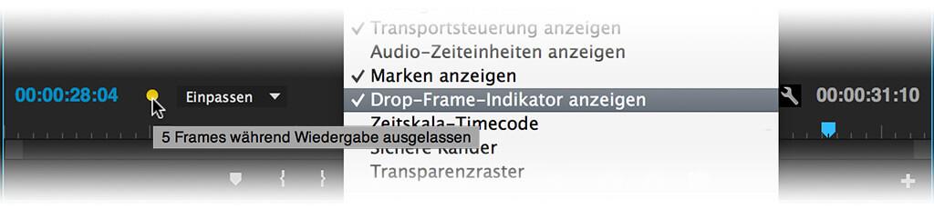 Drop Frame Indikator