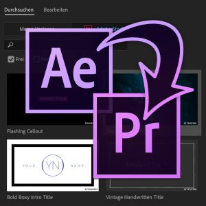 Motion Graphics und Essential Graphics online Seminar