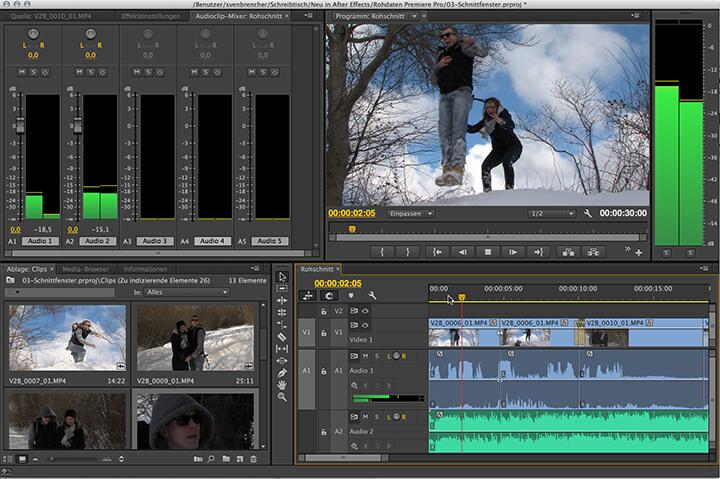 die Oberfläche von Premiere Pro in der nächsten Version